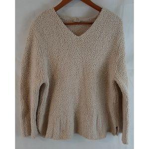 J. JILL Plush Teddy Sherpa Cozy Pullover Sweater L